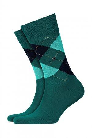 Зеленые носки Manchester Burlington. Цвет: зеленый