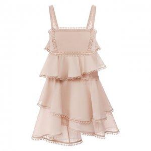 Хлопковое платье Charo Ruiz Ibiza. Цвет: бежевый