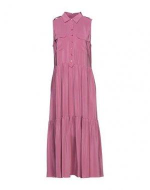 Платье длиной 3/4 EQUIPMENT. Цвет: розовый