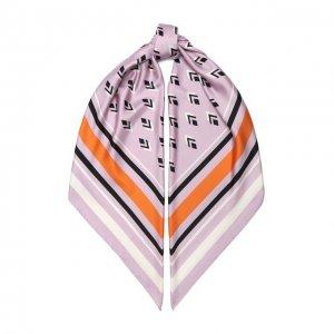 Шелковая шаль Garavani Valentino. Цвет: розовый