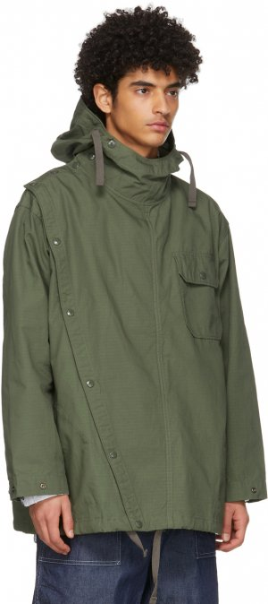Khaki Ripstop Sonar Shirt Jacket Engineered Garments. Цвет: ct010 olive