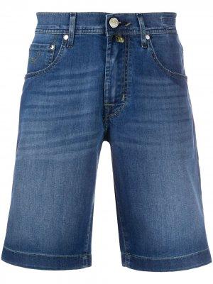 Длинные джинсовые шорты Jacob Cohen. Цвет: синий