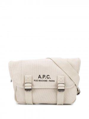 Сумка на плечо с логотипом A.P.C.. Цвет: нейтральные цвета