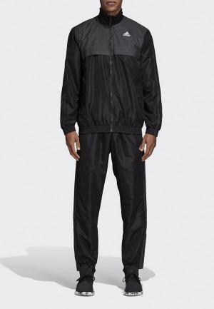 Костюм спортивный adidas MTS WV RITUAL. Цвет: черный