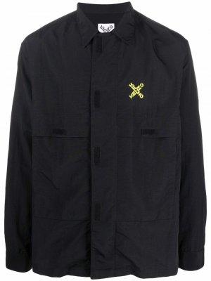 Легкая куртка с логотипом Kenzo. Цвет: черный