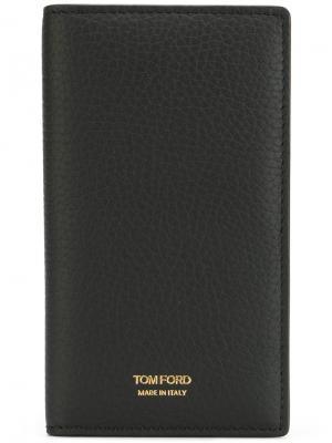 Вертикальный кошелек для карт Tom Ford. Цвет: чёрный