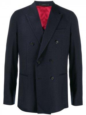 Двубортный пиджак Paul Smith. Цвет: синий