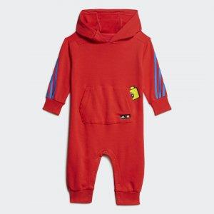 Комбинезон с капюшоном x Classic LEGO® adidas. Цвет: красный