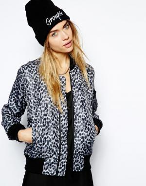 Леопардовая куртка-пилот NYC Schott. Цвет: multi - leopard