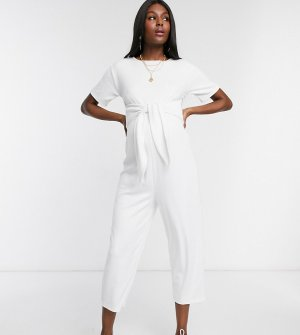 Комбинезон в стиле casual от ASOS DESIGN Maternity-Белый Maternity