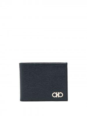 Бумажник с декором Gancini Salvatore Ferragamo. Цвет: синий