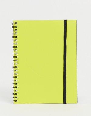 Блокнот формата A5 Typo x Smiley-Желтый