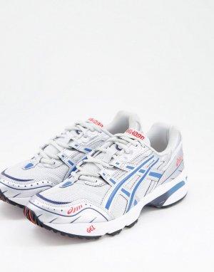 Серебристо-синие кроссовки Gel-1090-Серебряный Asics