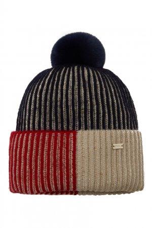 Цветная шапка с помпоном Junior Republic. Цвет: multicolor