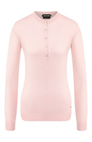 Пуловер из смеси кашемира и шелка Tom Ford. Цвет: светло-розовый