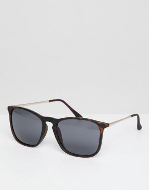 Солнцезащитные очки в черепаховой оправе -Коричневый New Look