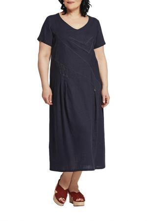 Платье D`imma. Цвет: темно-синий
