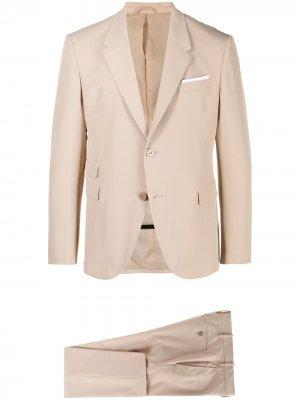 Костюм с однобортным пиджаком и укороченными брюками Neil Barrett. Цвет: нейтральные цвета