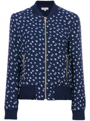 Куртка-бомбер с цветочным принтом Michael Kors. Цвет: синий