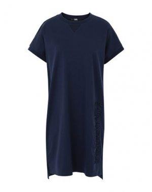 Короткое платье KARL LAGERFELD. Цвет: темно-синий