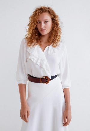 Блуза Mango - PLIS2. Цвет: белый