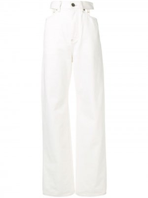 Широкие джинсы Maison Margiela. Цвет: белый