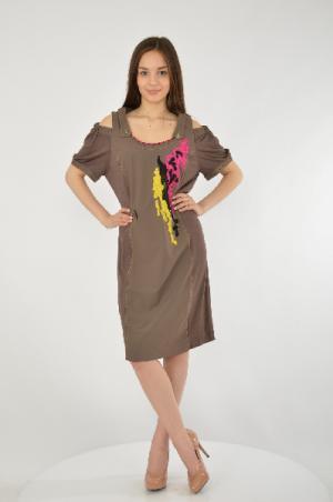 Платье Giani Forte. Цвет: коричневый
