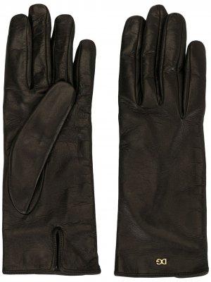 Перчатки с логотипом Dolce & Gabbana. Цвет: черный