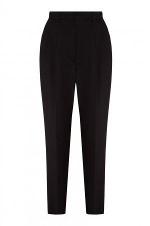 Черные зауженные брюки со стрелками LAROOM. Цвет: черный
