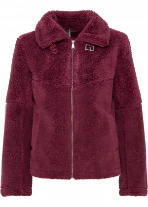 Куртка с плюшевым мехом bonprix. Цвет: лиловый