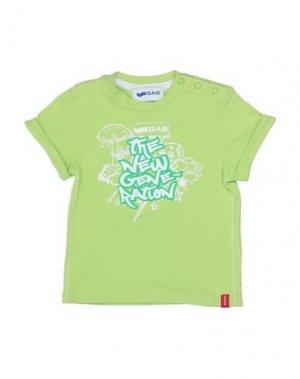 Футболка GAS. Цвет: светло-зеленый