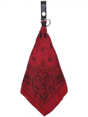 Брелок-бандана AMIRI. Цвет: красный