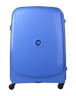 Чемодан/сумка на колесиках DELSEY. Цвет: синий