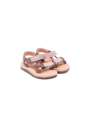 Сандалии на липучках Mini Melissa. Цвет: розовый
