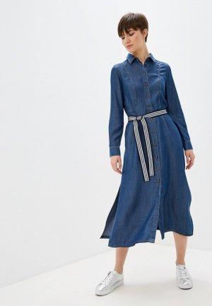 Платье джинсовое Pennyblack. Цвет: синий