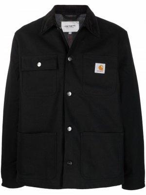 Куртка-рубашка с нашивкой-логотипом Carhartt WIP. Цвет: черный
