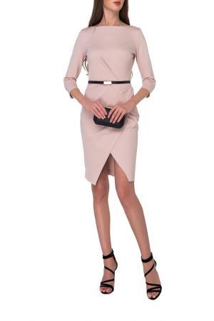 Платье Arefeva. Цвет: бежевый, розовый