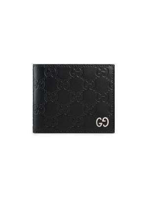 Кошелек Signature Gucci. Цвет: черный