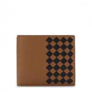 Кожаное портмоне с отделениями для кредитных карт Bottega Veneta. Цвет: коричневый
