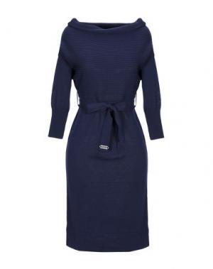 Короткое платье ALVIERO MARTINI 1a CLASSE. Цвет: темно-синий