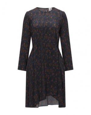 Короткое платье ATTIC AND BARN. Цвет: темно-синий