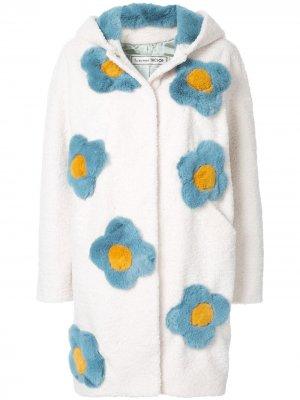 Пальто с цветочной вышивкой Tu es mon TRÉSOR. Цвет: белый