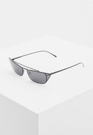 Очки солнцезащитные Prada PR 64US 1AB5S0. Цвет: черный