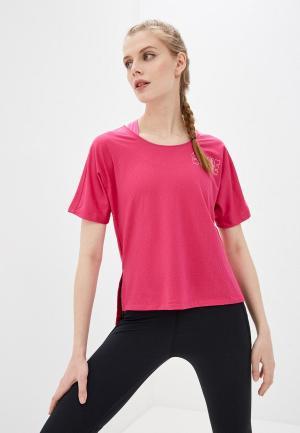 Футболка спортивная Nike W NK ICON CLASH CITY SLEEK SS. Цвет: розовый