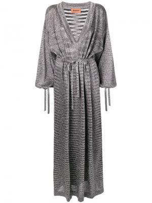Длинное платье с V-образным вырезом Missoni