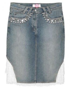 Джинсовая юбка CLIPS MORE. Цвет: синий