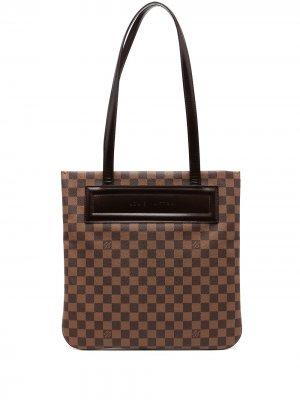 Сумка на плечо Damier Ebène Clifton 2001-го года Louis Vuitton. Цвет: коричневый