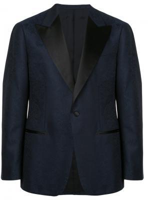 Пиджак с цветочным принтом United Arrows. Цвет: синий