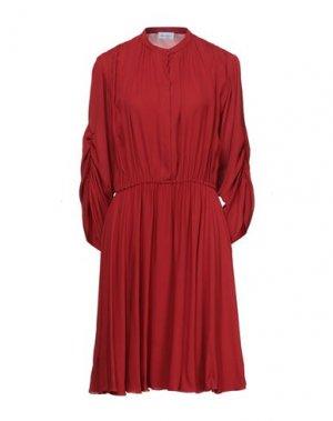 Короткое платье SALVATORE FERRAGAMO. Цвет: кирпично-красный