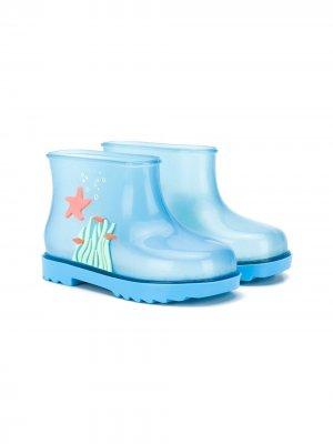 Резиновые сапоги Under Sea Mini Melissa. Цвет: синий